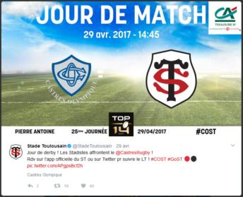 SSIG live tweet jour de match